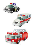 Special purpose vehicles. Cars police, ambulance, fire truck. Vector icon Stock Photo