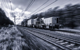 Special Railway transport fast motion with blur Royalty Free Stock Photos