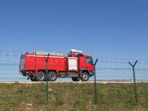 Special red fire engine rides Stock Photos