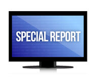 Special report monitor Royalty Free Stock Photo