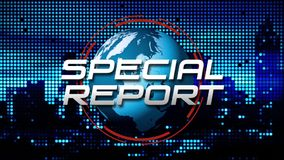 Special Report News Broadcast Animated Graphic, Blue