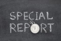 Special report watch Stock Image