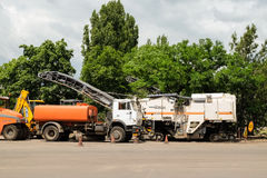 Special road machinery Stock Photo