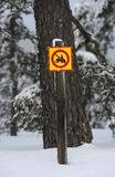 Special road sign snowmobile Royalty Free Stock Photography