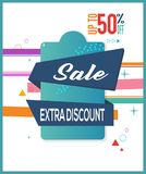 Special Sale.Extra Discount Up to 50% Off, Limited Offer Mega Sale banner. Sale poster. Big sale, special offer. Vector illustration. Special Sale.Extra Discount Stock Photos