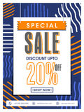 Special Sale Poster, Banner or Flyer Design. Special Sale Poster, Sale Banner, Sale Flyer, Discount upto 20% off, Sale Typographical Background, Creative Royalty Free Stock Images