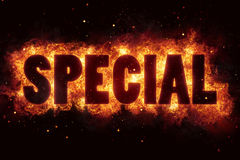 Special sale price hot deal flames flame burn burning explode. Explosion Stock Image