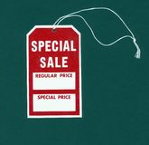 Special Sale Tag. Sale tag on black royalty free stock photography