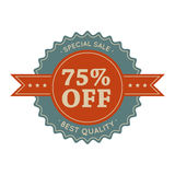 75 special sale vintage banner Stock Photography
