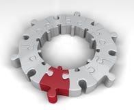 Special sammanlänkning i figursågcirkeln Arkivfoto