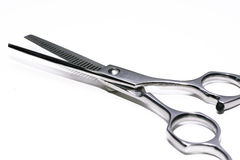 Special scissors for work of hairdresser Stock Images