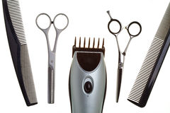 Special scissors for work of hairdresser Stock Photos