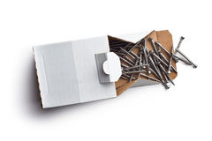 Special screws into hardwood Stock Photo