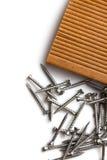 Special screws into hardwood Stock Image