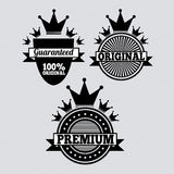 Special seals. Specials seals over gray background vector illustration Royalty Free Stock Image