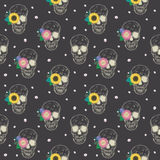 Special seamless pattern with skull and flowers Royalty Free Stock Images