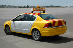 The special service car. In airport Royalty Free Stock Photo