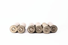 .38 special shell casings isolated on white background Stock Images