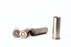 .38 special shell casings isolated on white background Stock Image
