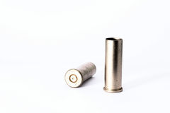 .38 special shell casings isolated on white background Royalty Free Stock Photo