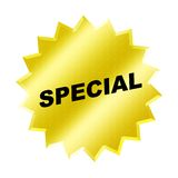 Special sign. Yellow special sign - web button - internet design Stock Photos