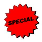 Special Sign. Red Special Sign - Web Button - Internet Design Stock Image