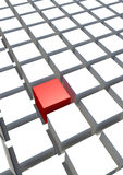 Special single red cube and white cube Royalty Free Stock Photo