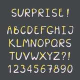 Special skapat alfabet för barn stock illustrationer