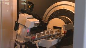 Special skrivare för apparat som 3D arbetar i laboratorium arkivfilmer