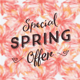 Special spring offer Royalty Free Stock Image