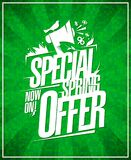 Special spring offer poster design Royalty Free Stock Images