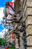 Street lamps in Budapest, Hungary. Royalty Free Stock Images