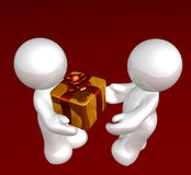 Special surprise gift. For girl friend icon figure Stock Photo