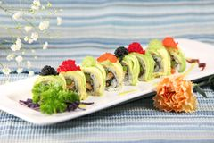 Special Sushi Roll Royalty Free Stock Photography