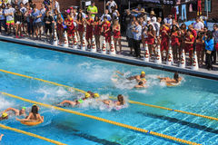 Special swim with Mike event of USC Royalty Free Stock Photos