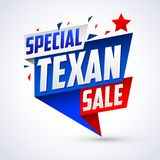 Special Texan sale vector modern colorful promotional banner Royalty Free Stock Photo