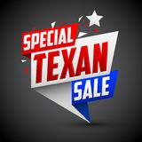 Special Texan sale vector modern colorful promotional banner Stock Photography