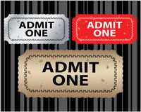 Special ticket. Special colore admit one ticket Royalty Free Stock Photo