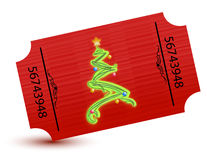Special ticket for the christmas party. Illustration Stock Images