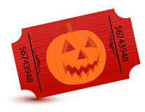Special tickets for the halloween party Stock Photography