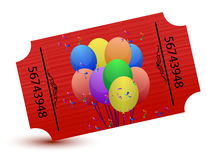 Special tickets for a party illustration Royalty Free Stock Photos