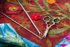 Special tools for fabric applique Stock Photography