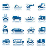 Special transportation icon set. Set of special transportation icons Stock Photo
