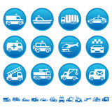 Special transportation icons. Set of special transportation icons Royalty Free Stock Photos