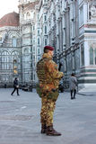 Special unit of the italian army  in Florence Royalty Free Stock Image