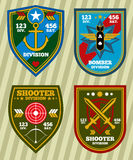 Special unit military army and navy patches, emblems vector set Royalty Free Stock Photos