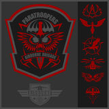 Special unit military emblem set vector design template. Stock Photography