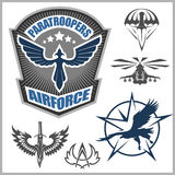 Special unit military emblem set vector design template. Royalty Free Stock Image