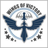 Special unit military emblem vector design template. Royalty Free Stock Photography