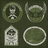 Special unit military grunge emblem  vector design template Stock Photos